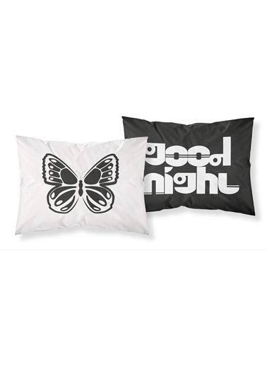 Helen George Helen George Besties 50 X 70 Cm Good Night Yazılı Pamuk Saten Yastık Kılıfları Siyah